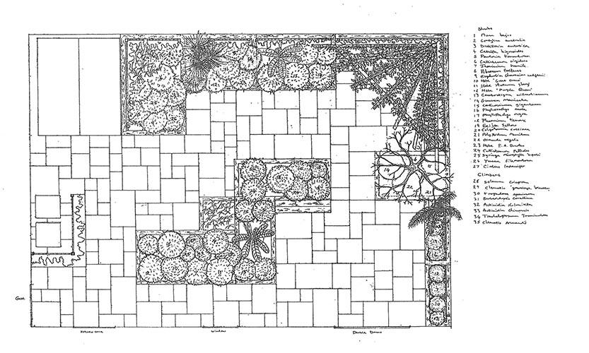 Landscape design ammonite paving landscaping for Garden design gloucestershire